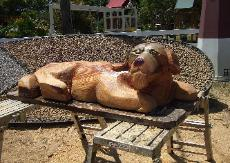 Dog chainsaw carving Florida
